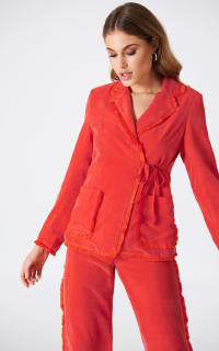Stina Goya Red Rise Co-ord  6 Preview Images