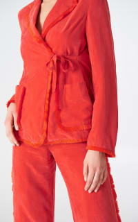 Stina Goya Red Rise Co-ord  5 Preview Images
