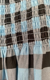 Ganni Smocked checked cotton dress 4 Preview Images