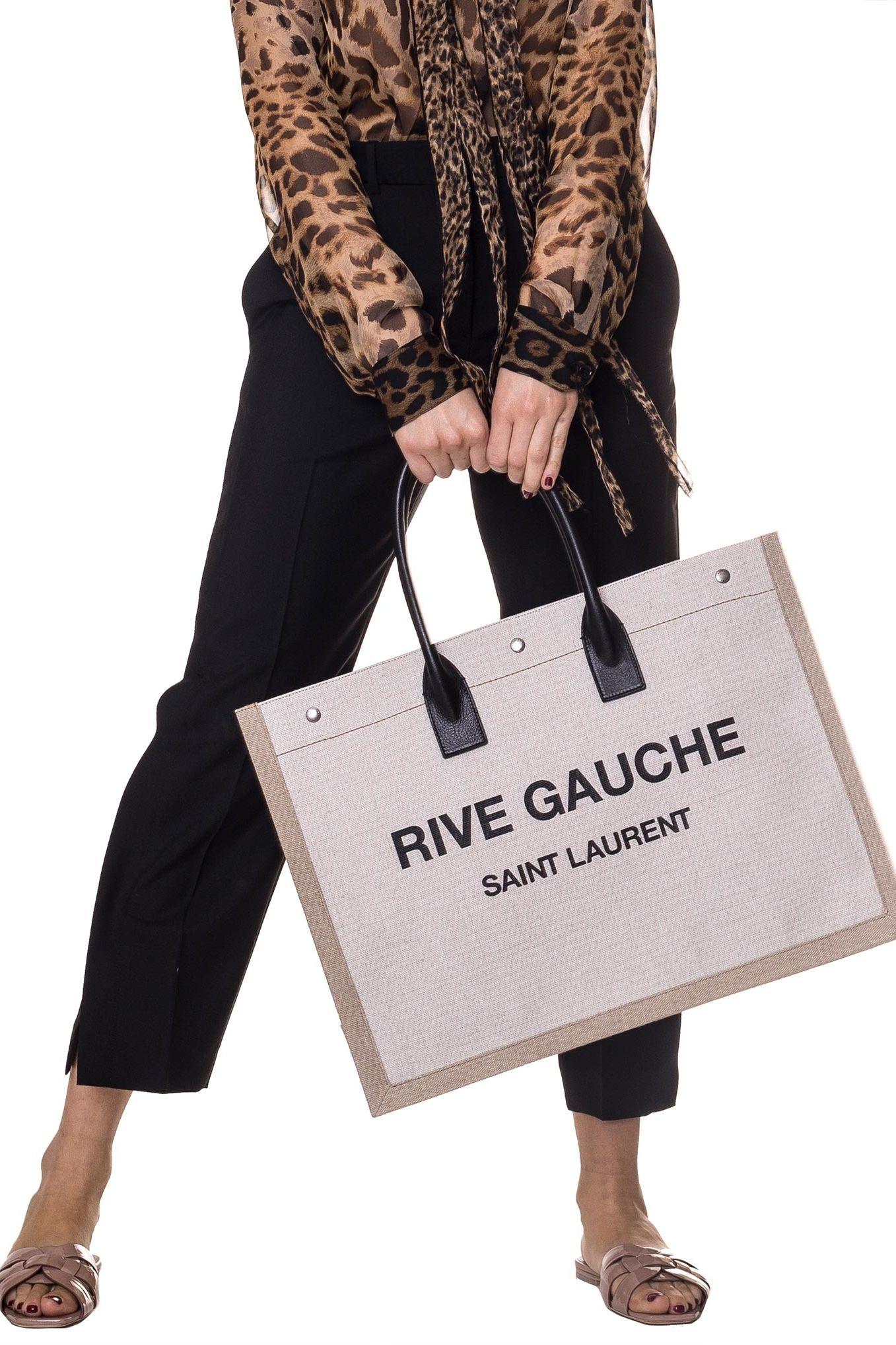 Saint Laurent  Rive Gauche-print canvas tote 2 Preview Images