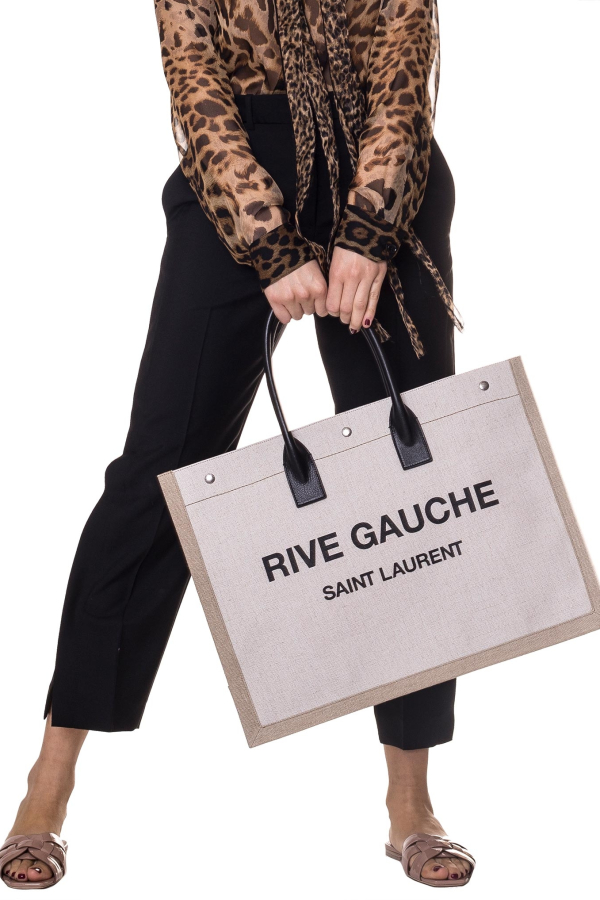Saint Laurent  Rive Gauche-print canvas tote 2