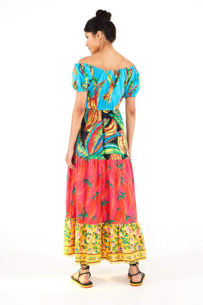 Farm Rio The Mix Maxi Dress 3