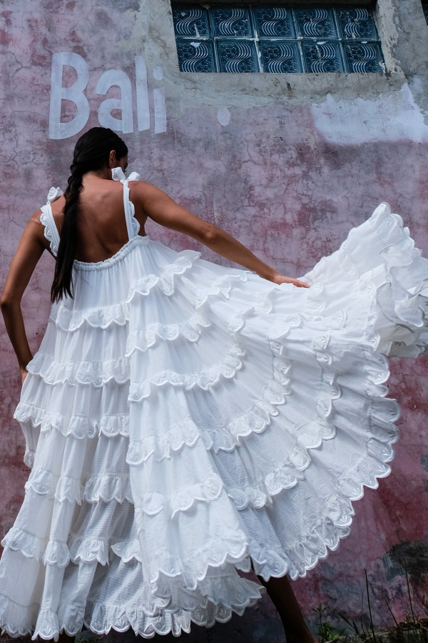 Innika Choo Iva tiered dress 7