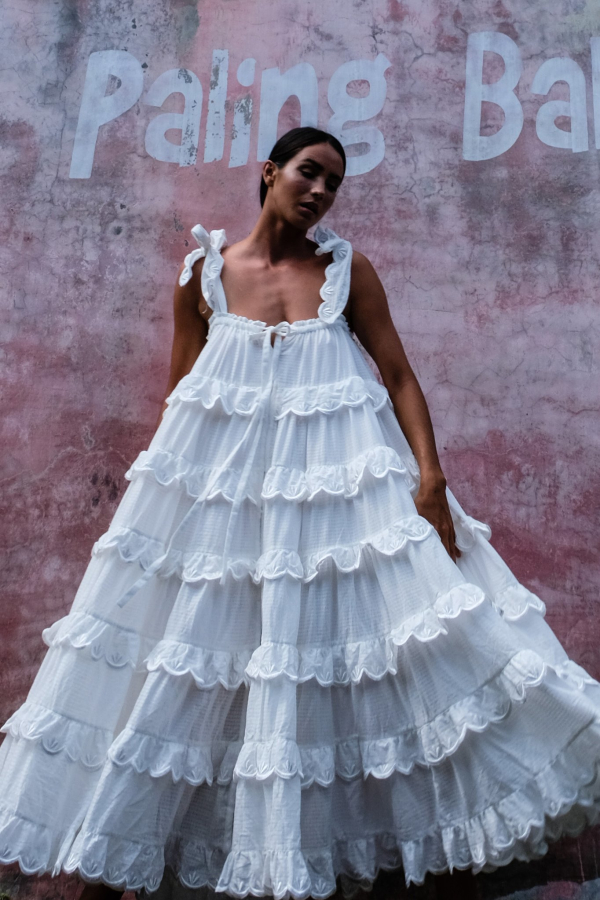 Innika Choo Iva tiered dress 9