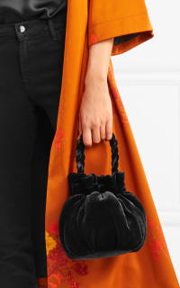 Staud Grace crushed velvet tote 2 Preview Images