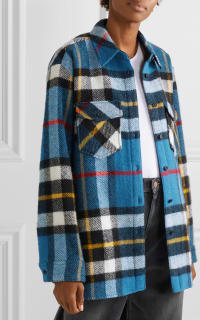 WE11 DONE Checked wool jacket 4 Preview Images