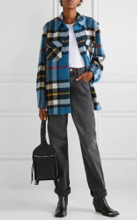 WE11 DONE Checked wool jacket 5 Preview Images