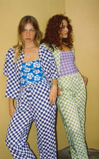 Holiday The Label Checkered Pyjama Olive set 2 Preview Images