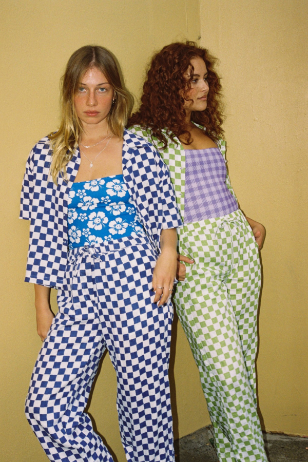 Holiday The Label Checkered Pyjama Olive set 2