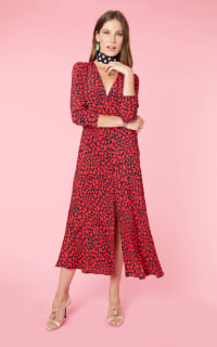 RIXO London Katie heart-print woven dress Preview Images