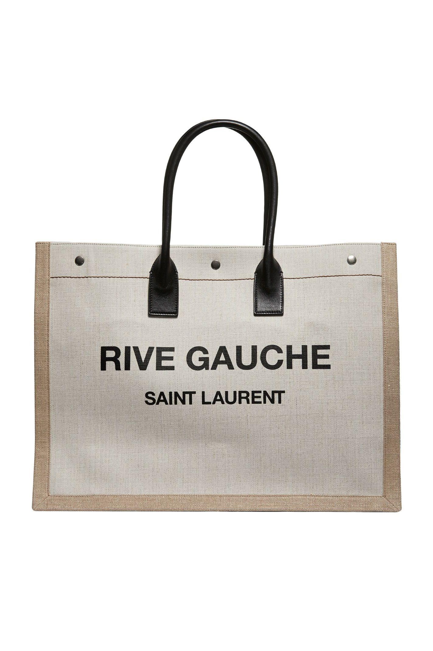 Saint Laurent  Rive Gauche-print canvas tote Preview Images