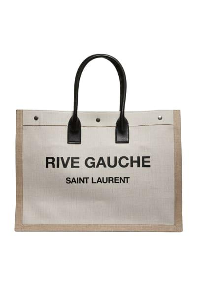 Saint Laurent  Rive Gauche-print canvas tote