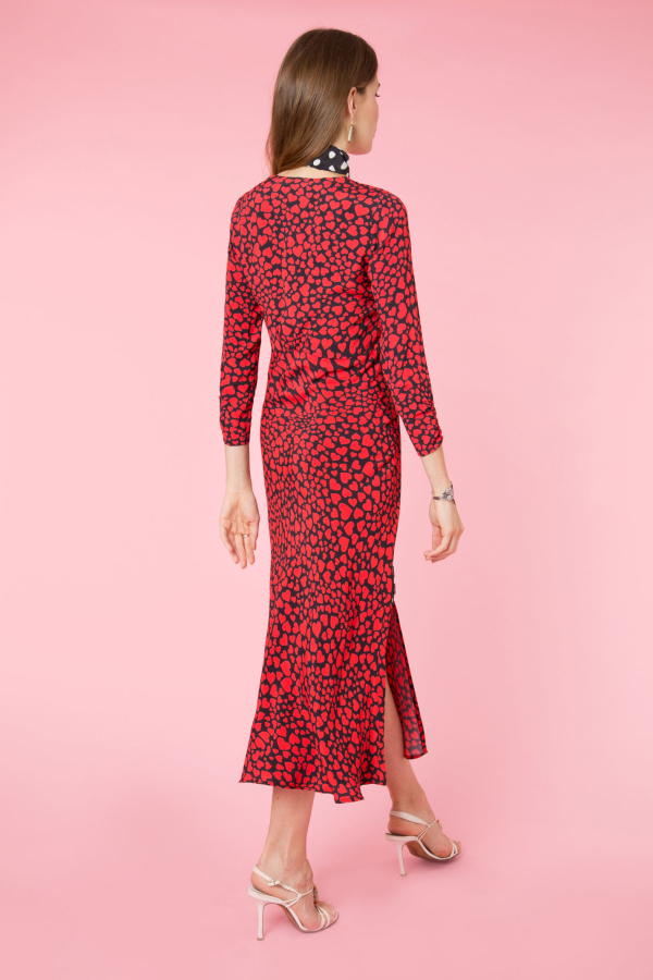 RIXO London Katie heart-print woven dress 3