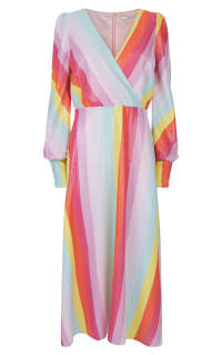 Olivia Rubin Dannii Bright Rainbow Sequin Dress Preview Images