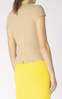 Roland Mouret Alanya Top in Caramel 4 Preview Images