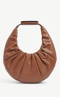 Staud Moon ruched leather shoulder  Preview Images