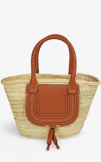 Chloé Marcie mini woven bag Preview Images