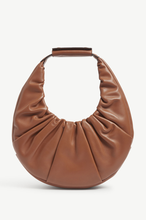 Staud Moon ruched leather shoulder