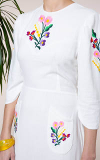 RIXO London Olivia Floral Embroidery dress Preview Images
