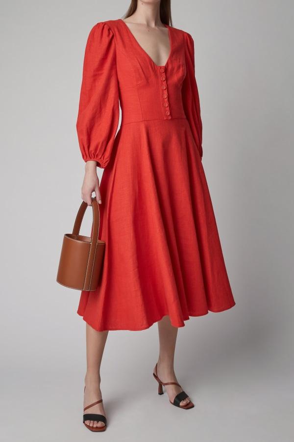 Image 2 of Staud birdie dress