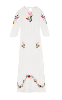 RIXO London Olivia Floral Embroidery dress 7 Preview Images