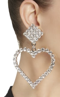 Alessandra Rich Crystal Embellished Earrings 2 Preview Images