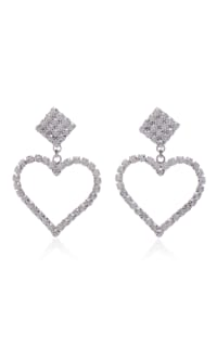 Alessandra Rich Crystal Embellished Earrings Preview Images