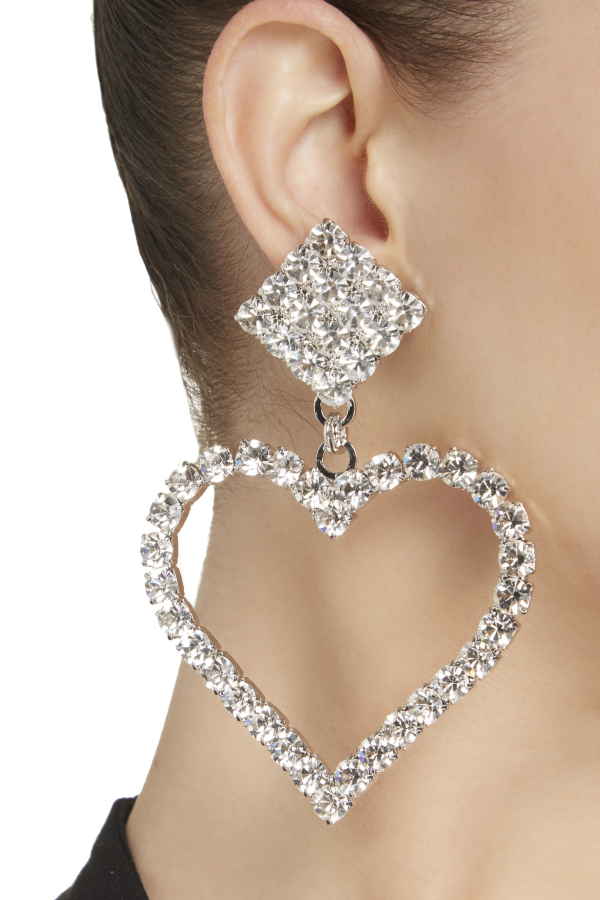 Alessandra Rich Crystal Embellished Earrings 2