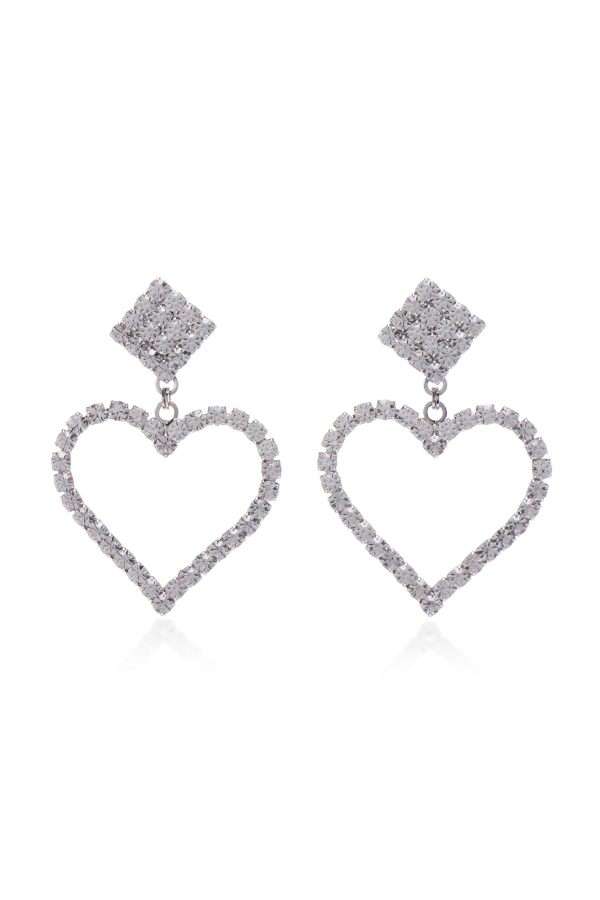 Alessandra Rich Crystal Embellished Earrings