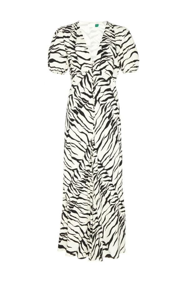 Image 1 of Rixo tonya printed crepe midi dress