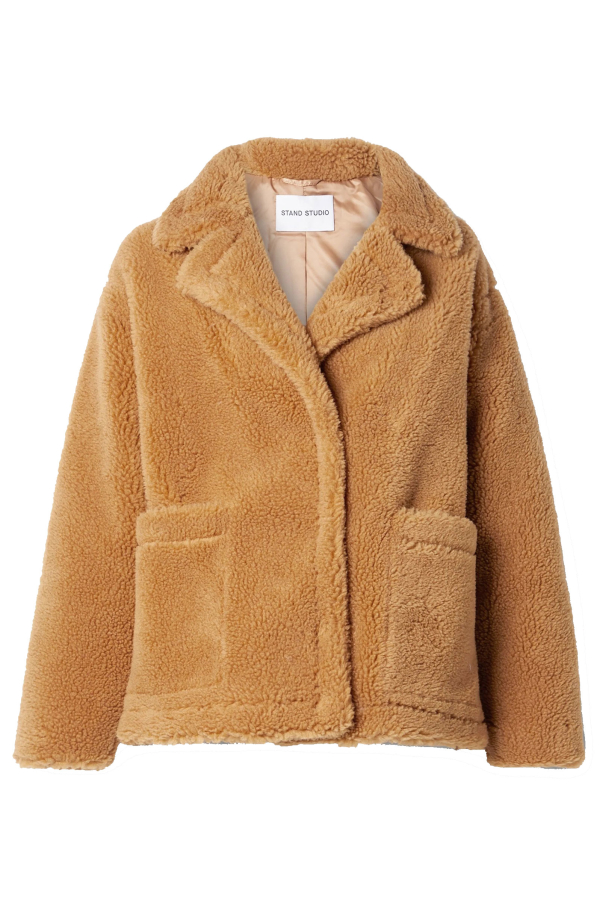 Stand Studio Marina faux shearling jacket 0 Preview Images