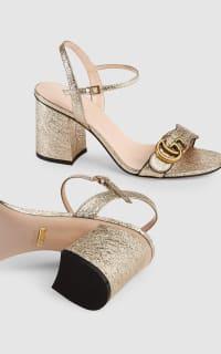 Gucci Metallic laminate sandals 5 Preview Images