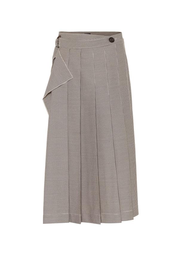 Image 1 of Joseph check pleat midi skirt