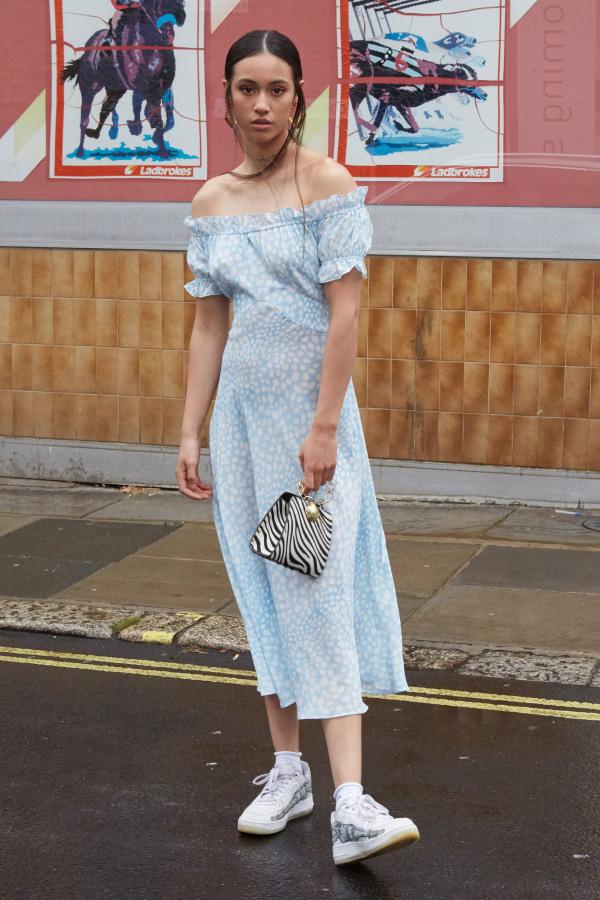 Image 2 of Rixo issy ruffle dress