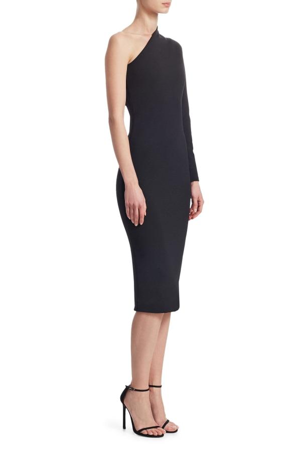 Image 2 of Solace London ambre one-shoulder midi dress