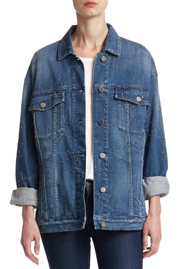 Image 2 of Stella Mc Cartney oversized star denim jacket