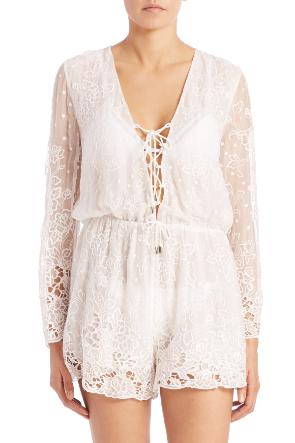 Zimmermann Roza Silk Veil Playsuit 2