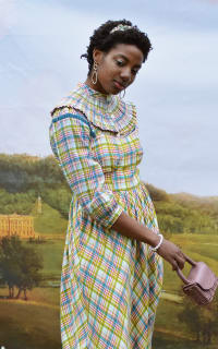 Olivia Annabelle Darcy Blouse in Regency Tartan 2 Preview Images