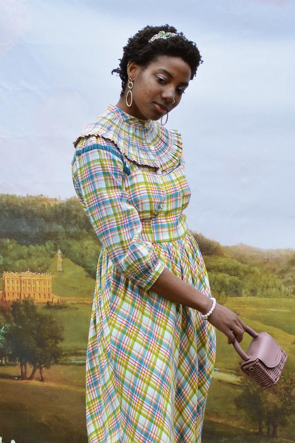 Olivia Annabelle Darcy Blouse in Regency Tartan 2