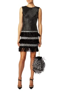Matthew Williamson Lattice Feather Lace Embroidered Dress  5 Preview Images