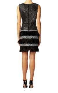 Matthew Williamson Lattice Feather Lace Embroidered Dress  4 Preview Images