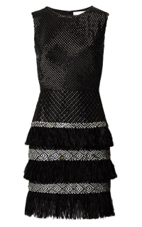 Matthew Williamson Lattice Feather Lace Embroidered Dress  Preview Images
