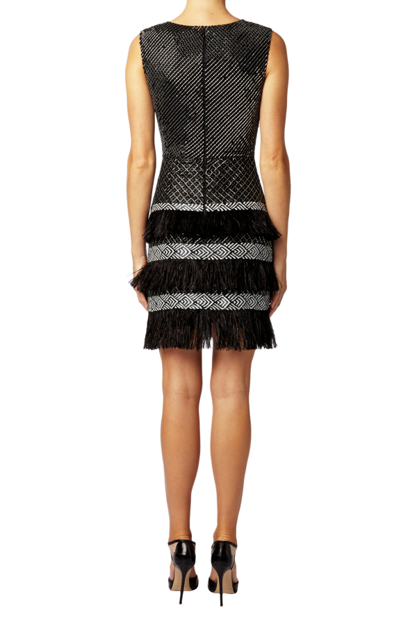 Matthew Williamson Lattice Feather Lace Embroidered Dress  4
