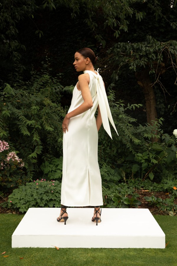 Image 2 of The Own Studio halter midi dress (ivory)