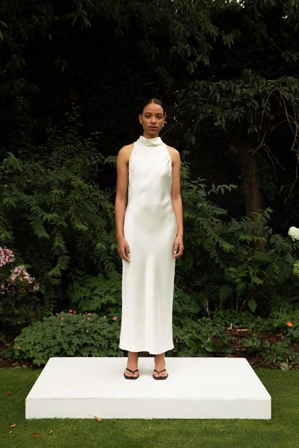 Image 3 of The Own Studio halter midi dress (ivory)