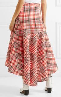 Ganni Cotton seersucker wrap skirt 4 Preview Images