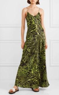Ganni Tiger print silk maxi dress 2 Preview Images