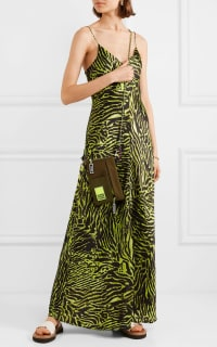 Ganni Tiger print silk maxi dress 3 Preview Images