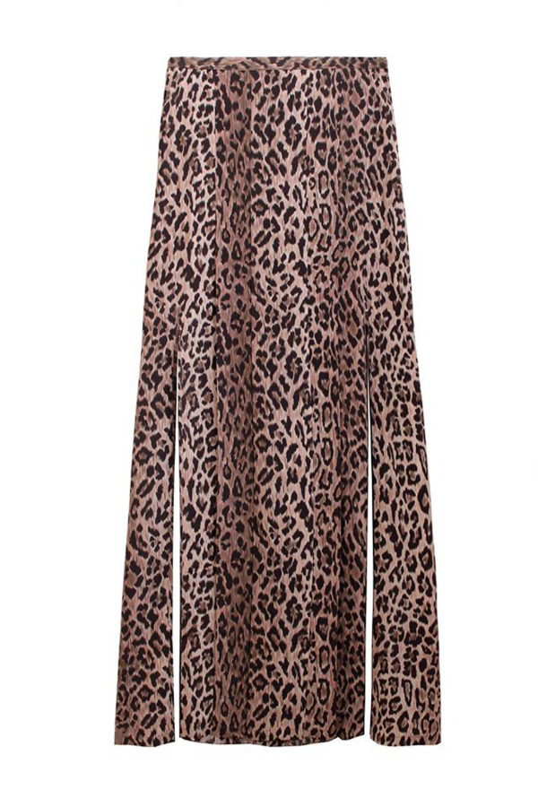 RIXO London Georgia Skirt - Leopard