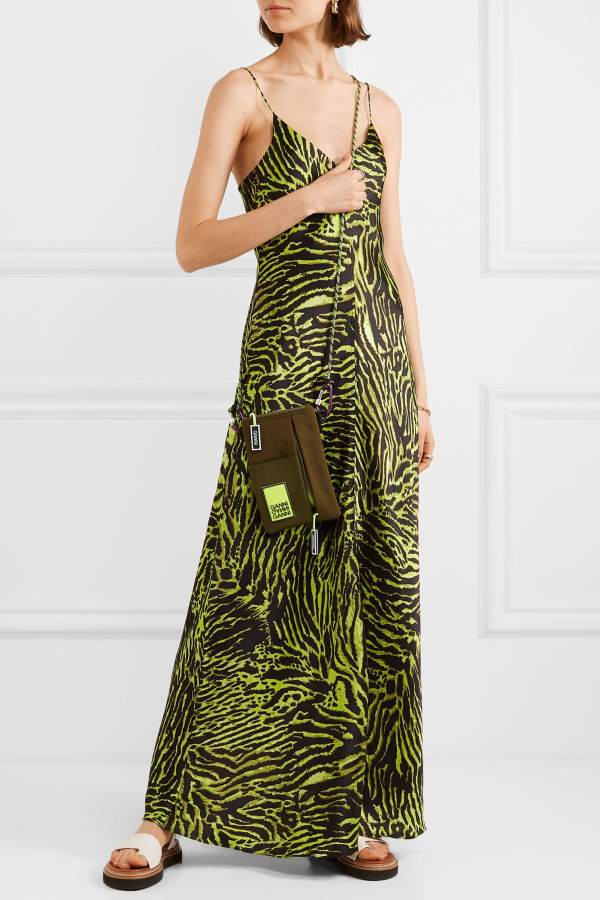 Ganni Tiger print silk maxi dress 3